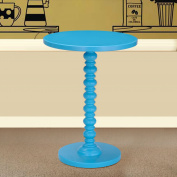 Asense Round Wood Spindle Colourful End/Side Table