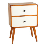 Antique Revival Tristan Mid-Century Modern Side Table, White