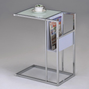 K & B Furniture SR-1289-WH Side Table