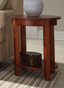 Alaterre Shaker Cottage Round Accent Table, Cherry
