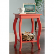 Sauder Harbour View Side Table in Desert Coral