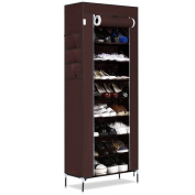 Dickin 4 Colours 10 Layer 9 Grid Large Capacity Furniture Shoes Storage Organiser Portable Shoe Rack