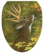Toilet Tattoos, Toilet Seat Cover Decal, Lucky Find Deer, Size Elongated