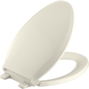 Kohler K-7315-47 Cachet Quick-Relase Grip-Tight Elongated Toilet Seat; Almond Grip-Tight Cachet
