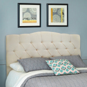 Barton Full/Queen Cotton Upholstered Tufted Button Headboard