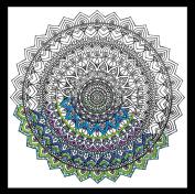 "Zenbroidery Printed Fabric ""Mandala"" Embroidery Kit, Cotton, White"