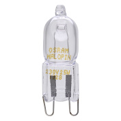 OSRAM Oven Halopin 230/240v 25w G9 Halogen Capsule Bulb, Used By BOSCH NEFF SIEMENS DELONGHI OCEAN FAGOR For Cooker And Microwave Oven Applications, High Temperature Tolerant, *SEE NOTE