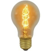 Dimmable Vintage Amber Antique 40w Incandescent GLS Lamp Twisted Coil ES/E27