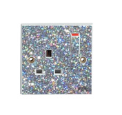 Silver Sequin Sparkle Single Plug Socket Sticker Vinyl / Skin cover
