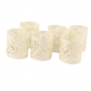 6pcs Wedding Christmas LED Tea Light Candle Holders Table Decoration 4x4.5cm Heart