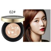 Hunputa Magic BB Cream Air Cushion Compact Korean Cover Foundation SPF Makeup ,Natural - Brightening, Anti-Wrinkle, Pore Minimising, Hydrating