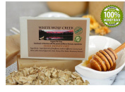 Natural Organic Soap Bar, by White Wolf Creek , Shea Honey Oatmeal All Over Body Soap, GMO Free, Handmade By Montana Soap Artisans, Great Facial and Body Cleansing Bars!