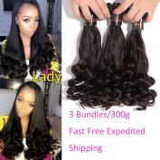 XCCOCO Hair Funmi Spring Curly Weave 3 Bundles(12 14 41cm ) Cheap Bouncy Curl Hair Weave 7A Peruvian Remy Virgin Human Hair Extension Natural Black Colour