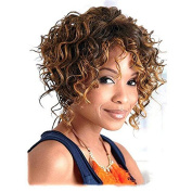 YOURWIGS Short Curly Hair Wigs for Black Women Kinky Synthetic Wig Natural Cut Wigs with Wig Cap Z068
