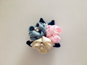 Japanese Kanzashi Fabric Flower Hair Clips/Wedding Corsage Flowers Party Woman Flower Brooch Hair Fascinator