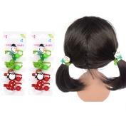 Toddler Girls Christmas Snowman Ponytail Holder Cartoon Festival Hair Rope Kids Childrens Girls Elastic Hair Ties Holder Bands Ponytail Holders Set-OY002