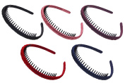 STHUAHE Woman 5PC Multicolor Metal Teeth Comb Hair Hoop Hairband Headband Hair Accessories by Beauty hair
