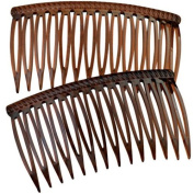 Good Hair Days The Original Grip-Tuth Hair Combs, Set of 2, 40417 Shell 8.3cm Wide