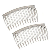 Good Hair Days The Original Grip-Tuth Hair Combs, Set of 2, 40817 Clear 8.3cm Wide