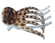 Parcelona France Basic Light Beige Brown Celluloid Secure Grip Side Slide Slider Hair Claw Clip Clamp Clasp Clutcher