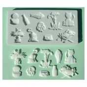 Cats - Silicone Icing Moulds for Cake and Cupcake Decoration