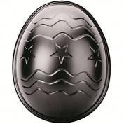 "ibili ""Moka"" Easter Egg Shaped Cake Mould, Black, 26 x 21 x 8.3 cm"