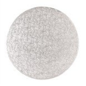 """14"""" SILVER ~ ROUND CAKE DRUM BOARD ~ 13MM THICK"""