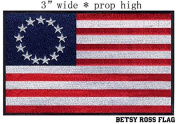 Betsy Ross Flag Iron On Patch 7.6cm x 5.1cm