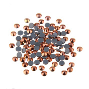 Nizi Nail Rhinestones ROSE GOLD Mixed Sizes of 400pcs Nail Art Strass Shiny Stone Diy Craft Tiny Rhinestone Perfect for Nail art