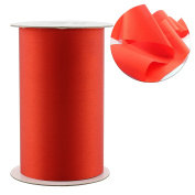 "4"" Wide Solid Colour Red Satin Ribbon for Grand Opening Ceremonies / Ribbon Cutting, Chair Sashes, & Crafts 10-Yard Spool / 9.1m)"
