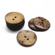 10 pcs Natural Coconut Shell Buttons 2 Inch 50MM Large Coconut Buttons for Sewing DIY Crafts