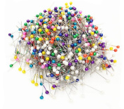 1Box (1000PCS) Round Pearl Head Decorative Straight Pins Straight Head Pins Dressmaking Dressmaker Pins Corsage Florists Sewing Pin