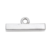 GENCASE Stainless Steel Silver Plated Bar Clasps for Necklaces and Bracelets Fasten & Secure Lock Jewellery Making
