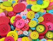 Freedi 660Pcs Resin Buttons for Sewing Scrapbooking DIY Handmade Crafts Assorted Size