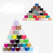 Metal Robbin Thread Spool Sewing Thread For Hand Machine 60pcs Mixed Colours Polyester
