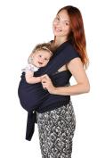 Baby Sling Carrier - Natural Cotton Nursing Cover For Newborns Breastfeeding Sling Baby Soft & Safe Holder Dark Blue Nice Baby Shower Gift by BubblePleasure …