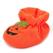 Halloween Crib Shoes, Nikuya Pumpkin Printed Soft Sole Anti-slip Sneakers for Newborn Infant Baby Boys Girls