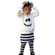 TRENDINAO Infant Baby Boy Girl Halloween Little Devil Hooded Blouse + Stripe Pants Outfits Clothes Set