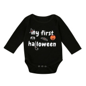 Baby Halloween Pumpkin Romper, TRENDINAO Toddlers Infant Boy Girl Romper Jumpsuit Clothes