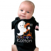 TRENDINAO Infant Newborn Boys Girls Halloween Letter Romper Jumpsuit Clothes Long Sleeve Cotton