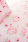 My Baby Sam Rosebud Lane Crib Sheet, Pink