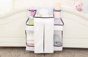 Baby Nappy Organiser - Nappy Organisation Storage for Baby Clothing, Nappies, Toys ,8 Pockets (White)by Winthome.