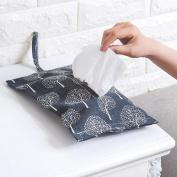 Wall Hanging Storage Bags,Awakingdemi Cloth Paper Towel Hanging Bag Pumping Paper Bag linen Paper Towel Bag