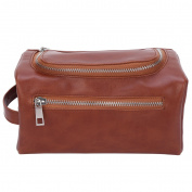 Mootime Easy Organisation Travel Toiletry Bag for Women Portable Bag & Toiletries Storage Brown