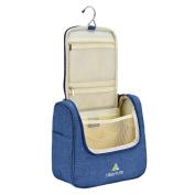 Travel Toiletry Bag by Hikenture - Hanging Makeup Kits - Compact Bathroom Organiser - Use In Gym, Hotel, Car, Home, Aeroplane