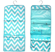 Best Large Turquoise Chevron Hanging Toiletry Makeup Cosmetic Case Travel Bag TravelNut® Unique Cool Birthday Great Fun College Back to School Accessories Gift Idea Him Her