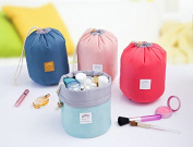AccMart Makeup Bag|Travel Kit Organiser|Bathroom Storage Cosmetic Bag|Toiletry Bag|Make up Pouches|Barrel Shaped Cosmetic Bag|Drawstring Wash Bag|Travel Wash Toiletry Beauty Organiser Pouch