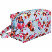 Aipark Fashion Peony Pattern Waterproof Nylon Cosmetic Bag Makeup Storage for Travel or Home Use