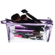 Aipark Waterproof Clear Zipper Hand Pouch Bag For Cosmetic Versatile Storage