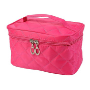 Aipark Women Large Capacity Makeup Bag Travel Cosmetic Organiser Case Holder With Mirror
